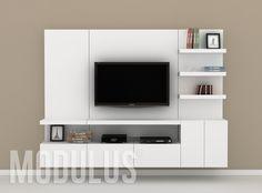 Composicion Sistema Mural 30 Modern Tv Unit Designs, Modern Tv Wall Units, Living Room Wall Units, Living Room Tv Unit Designs, Tv Unit Decor, Tv Wall Decor, Tv Wall Design, Wall Shelves Design, Tv Wall Panel