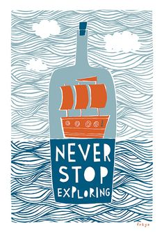 Never Stop Exploring Fine Art Print Large by FreyaArt on Etsy, $75.00 I love this for Baby OH's room x