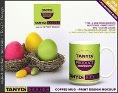 15oz Coffee Mug Photoshop Styled Mockup White Mug on Easter