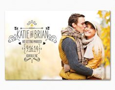 Save The Date Postcard or Magnet - Sooo Sketchy Engagement Card. via Etsy.