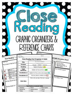 Close Reading Graphic Organizers that Builds Comprehension Here is a PREVIEW of our Bundled Reading Graphic Organizers Click here! :  Bundled Reading Graphic Organizers  How to Use this Product:Graphic Organizers is a great way to keep track of students learning throughout the year.