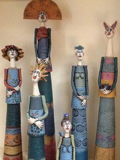Paper Mache Sculpture, Pottery Sculpture, Sculpture Art, Sculptures, Ceramic Pottery, Pottery Art, Ceramic Art, Ceramic Sculpture Figurative, Ceramic Workshop
