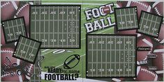 Are You Ready for Some Football 2 Pre Made 12x12 Scrapbook Pages   eBay