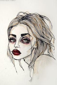 Frances Bean Cobain Art Print by Lucas David Arte Grunge, Grunge Art, Aesthetic Drawing, Aesthetic Art, Arte Indie, Posca Art, Arte Sketchbook, Wow Art, Hippie Art