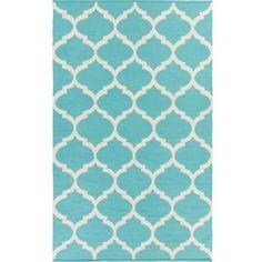 Artistic Weavers Hand-woven Madison Moroccan Trellis Cotton Area Rug (2' x 3') Teal-(2' x 3') - Walmart.com