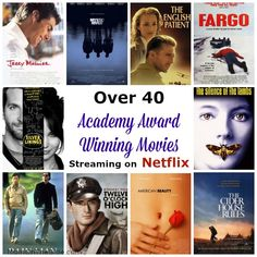 Over 40 Academy Award Winning Movies Streaming on Netflix right now!