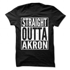 Straight Outta Akron - Cool T-Shirt !!! T-Shirts, Hoodies (19$ ==► BUY Now!) https://www.fanprint.com/licenses/akron-zips?ref=5750