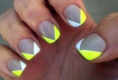 14 Alegre con última sobre color amarillo Nail Artwork Designs pra el verano 2016 - Moda Espanola