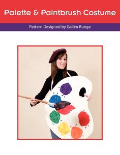 Free Sewing Pattern for Palette & Paintbrush Costume
