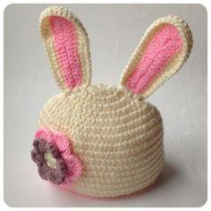 ~ Rabbit crochet hat ~ made by sweetcrechet.nl.