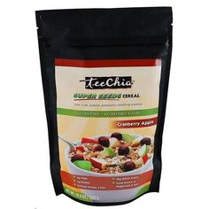 Teechia Cereal - Super Seeds - Cranberry Apple - 10.6 Oz - 1 Case