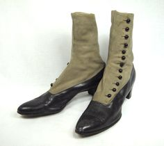 Edwardian button boots - Etsy