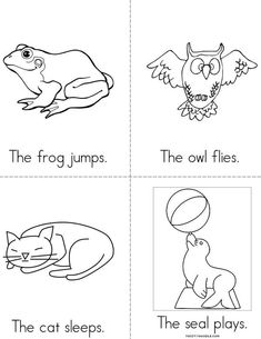 Animal Actions Book Beginning Readers That You Print For Kids