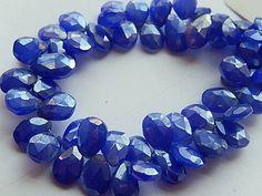 Semi Precious Gemstone Briolettes. Blue Chalcedony by LuxBeads