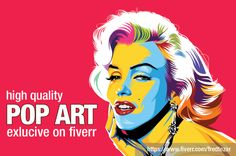 Marilyn Monroe draw Master pop art high quality vector my style