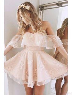 off shoulder prom dresses, pink homecoming dresses,short prom dresses #SIMIBridal #promdresses