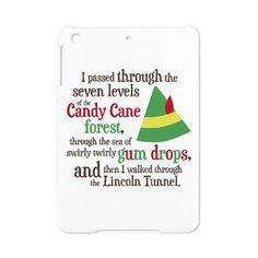 Buddy the Elf Candy Cane Forest Quote iPad Mini Case $28.69