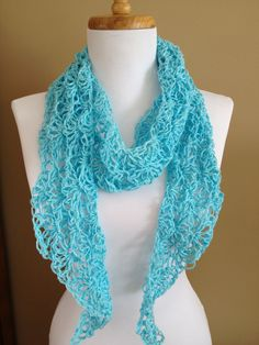 Spring and summer crocheted hemp scarf. by BallAndHook on Etsy