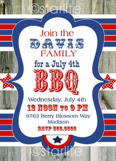 4th of july bbq invitation sayings