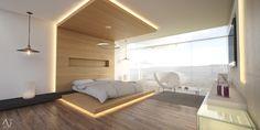 Existen muchas maneras de decorar las recámaras con lámparas e iluminación. Por ello, en el libro de hoy, veremos diseños de lámparas ideales para la recámara. ¡Toma nota de estas ideas de iluminación en la decoración de las recámaras! #Iluminación #Recámara Interior Minimalista, Bed, Furniture, Home Decor, Minimalist Bedroom, Design Ideas, Bedrooms, Flush Mount Lighting, Houses