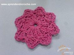 Flor de Croche Estrelinha para Aplicação - Aprendendo Crochê