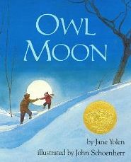 Genre: Fictional Picture Book Owl Moon is about a father and his daughter that venture out one winter night to observe owls in their habitat. Not only does this book contain amazing illustrations and a heart-warming plot, but it also encourages the bond that is between parents and their children. http://www.amazon.com/Owl-Moon-Jane-Yolen/dp/0399214577/ref=sr_1_1?s=books&ie=UTF8&qid=1449725706&sr=1-1&keywords=owl+moon