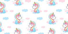 Pastel Clouds, Unicorn Head, Kawaii, Hello Kitty, Vector Freepik, Cartoon, Pattern, Animals, Design Illustrations