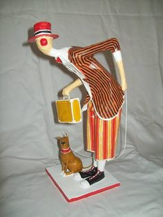 Puppet Toys, Send In The Clowns, Paperclay, Little People, Paper Cutting, Art Dolls, Paper Art, Arts And Crafts, Diy