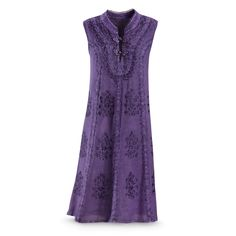 Embroidered Purple Dress - Women's Clothing & Symbolic Jewelry – Sexy, Fantasy, Romantic Fashions