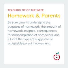 Teaching Tip of the Week: Homework & Parents