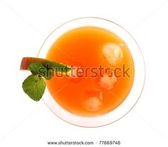 Summer fresh drink, isolated on white background.top view - Shutterstock Premier