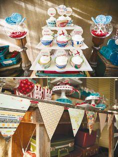 Love the cupcake wrappers!    {http://eyecandyeventdesign.com/ via Hostess with the Mostess}