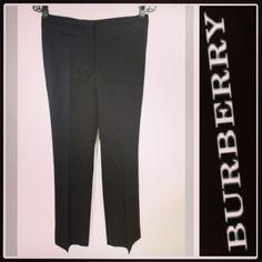 Burberry Prorsum 575.00 super slimming flat-front black pants w/tuxedo stripe sz.6/US; RR Price: 175.00  http://resaleriches.mybisi.com/product/burberrytuxedopants