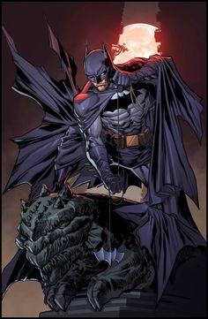 Batman by Ken Lashley, colours by Juan Fernandez *