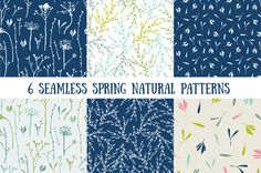Natural spring seamless patterns by utro_na_more on @creativemarket
