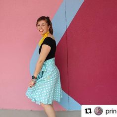 @princessdray added yellow pockets to her classic Minnie inspired skirt! If you look closely, you can see the color just barely peaking out on the side💛. I love how happy she looks in the photo!💕 #damseldesigned #shopsmall #disneybound #disneybounding #minnie #minniemouse #Repost @princessdray (@get_repost) ・・・ Day 2 of #summerofdisneystyle : #disneywalls ! Had to go with the #bubblegumwall because I had so much fun spinning around in my skirt in front of it! #disneystyle #dapperday…