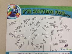 An elementary student saving for...!