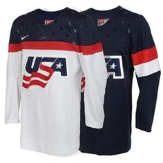Get in the hockey spirit with this modern USA Hockey jersey. Volleyball Uniforms, Baseball Uniforms, Ice Hockey Jersey, Usa Hockey, Sportswear, Hockey Apparel, Track Suits, Netball, Vector Format