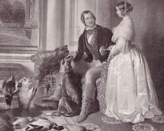 Queen Victoria and Prince Albert at Windsor Castle  Albert died of typhoid fever on 14th Dec 1861.His death devastated Queen Victoria who entered a state of mourning and wore black for the rest of her life.