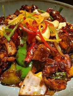 Kung pao chicken asian recipes in 2019 Veg Recipes, Asian Recipes, Chicken Recipes, Cooking Recipes, Ethnic Recipes, Chinese Recipes, Dinner Recipes, Paleo Dinner, Kung Pao Chicken