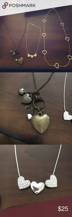 Heart Necklaces Heart necklace package comes with all 3! Jewelry Necklaces