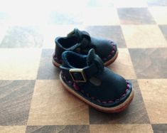 Real Leather:doll/shoes/Navy color/