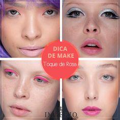 Aposte em toques de rosa na sua make para o final de semana. É uma cor que promete bombar no verão e estava presente sem todas as maquiagens do spfw. Invista, fica super moderno e feminino!