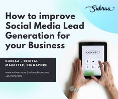 How to improve Social Media Lead Generation for your Business in 2020 Social Media Marketing, Digital Marketing, Logo Design Tips, Web Design Packages, Web Design Projects, Seo Agency, Business Website, Seo Services, Lead Generation