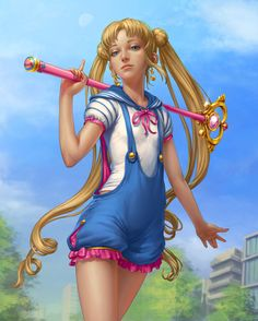 ...ella es la llamada Sailor Moon.