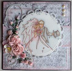 Annes lille hobbykrok: LOTV, Wedding card, Distress Ink