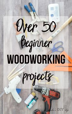 The treasure trove of beginner woodworking projects. Everything from project ideas to information about tools and tutorials. Free plans available too! #woodworkingprojects