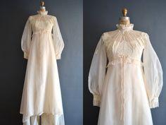 70s wedding dress / 1980s wedding dress / Heather by BreanneFaouzi, $188.00