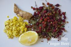 Rose Hip Ginger Beer:  how to make your own naturally fermented rose hip ginger beer, a tasty probiotic alternative to sugary sodas