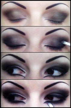 Smokey Eye - Brown + Black Eyeshadow with [awesome] Black Eyeliner